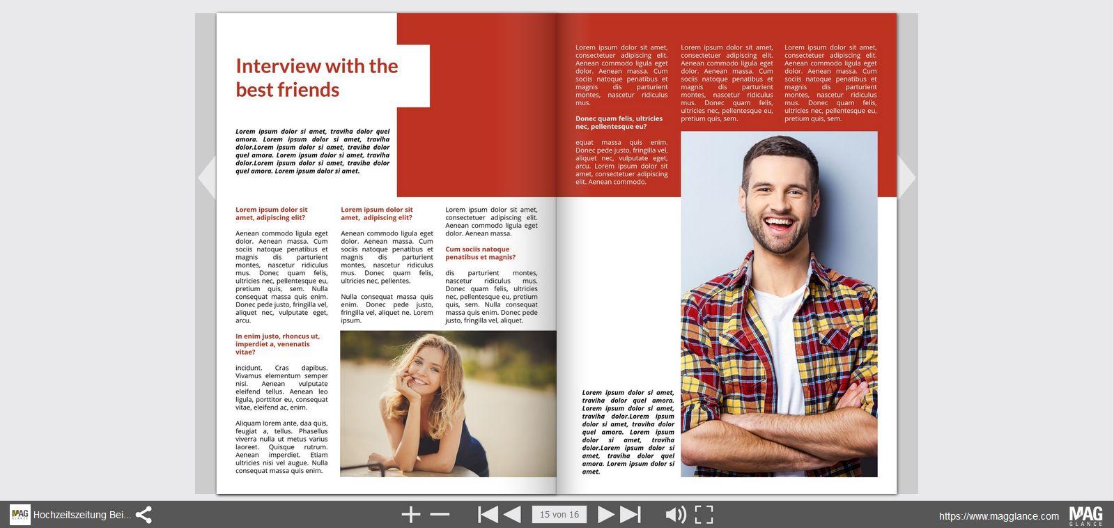 Online hochzeitszeitung erstellen hochzeitszeitung drucken Internet magasin